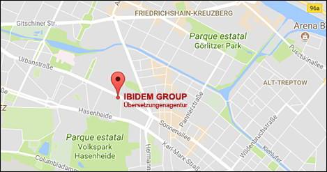 Ibidem Übersetzungen. Übersetzungsagentur. Niederlassung in Deutschland, Urbanstraße 51A, 10967 Berlin